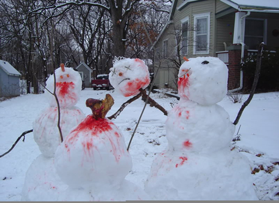 Move over, murderous Frosty: Disturbing snowmen - Alltop Viral