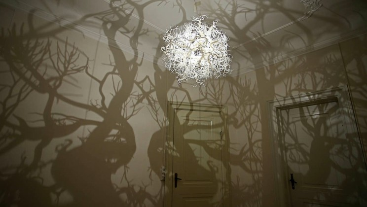 Unique chandelier makes any room into fairytale forest alltop viral unique chandelier makes any room into fairytale forest mozeypictures Image collections