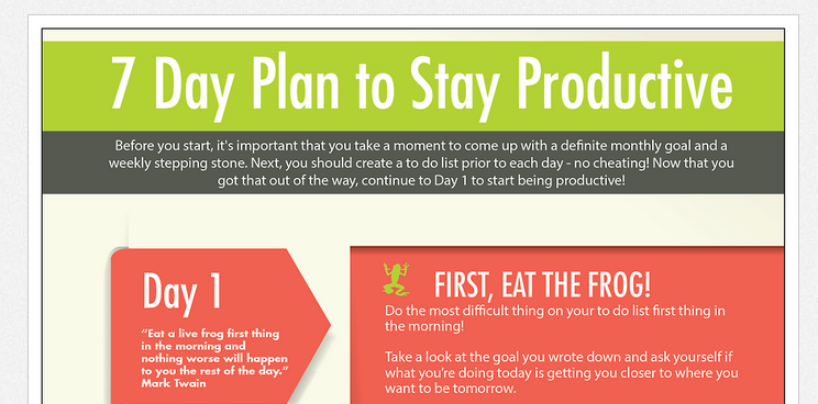 The 7 day productivity plan [infographic]