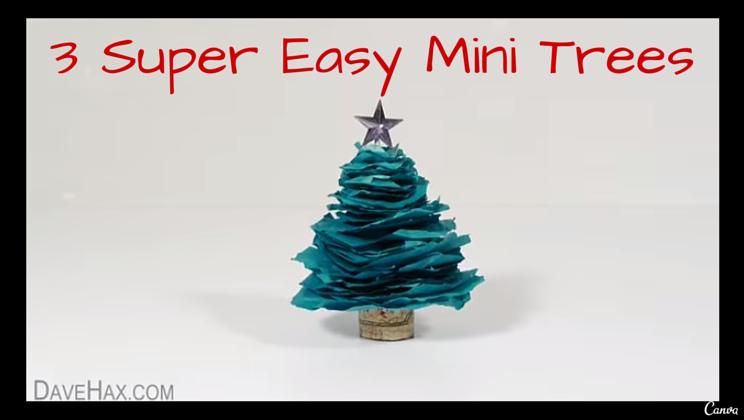 3 super easy diy mini christmas trees video alltop viral 3 super easy diy mini christmas trees video solutioingenieria Image collections