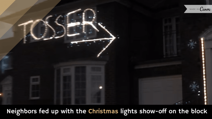 neighbors fed up with the christmas lights show off on the block video - Christmas Light Show Youtube