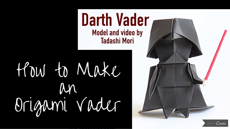 How To Fold The Cutest Origami Darth Vader Video Alltop Viral