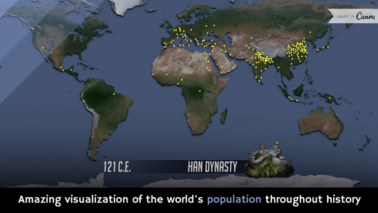 Amazing visualization of the worlds population throughout history amazing visualization of the worlds population throughout history video gumiabroncs Image collections