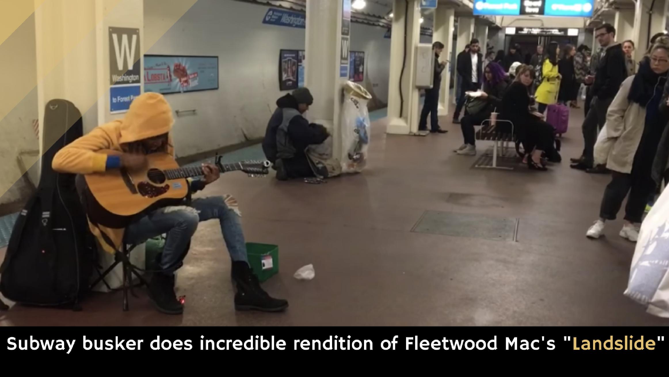 Subway Busker Does Incredible Rendition Of Fleetwood Macs