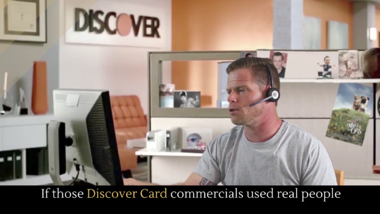 if those discover card commercials used real people alltop viral
