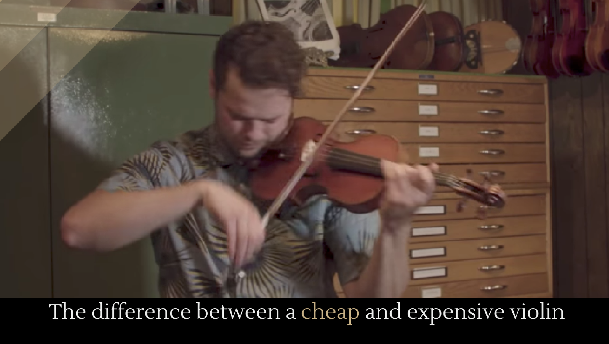 The difference between a cheap and expensive violin