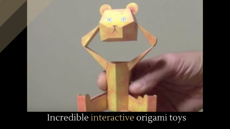 These Pieces Of Origami Are Way Beyond Your Usual Crane Or Box Toys Move And Play Along With You Each Its Own Unique Movement